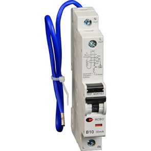 Lewden RCBO-16/30/SP 16A 30mA 1 Module Blue Lead RCBO