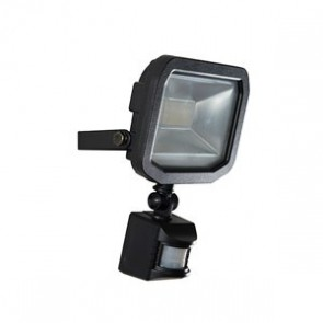 Luceco LFSP10W1B Slimline Guardian LED Floodlight with PIR 10W IP44 600lm