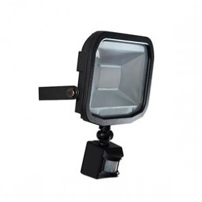 Luceco LFSP20W1B Slimline Guardian LED Floodlight with PIR 20W IP44 1200lm