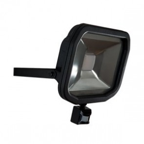 Luceco LFSP50W1B Slimline Guardian LED Floodlight with PIR 50W IP44 3000lm