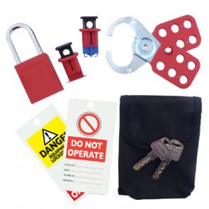 Kewtech LOKOFF1 Lock off kit with Kewlok, Padlock, Grablok & Labels