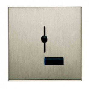 Lutron Lyneo LLSM-502B-FSN-M Preset Slide Dimmer With Status Light Satin Nickel