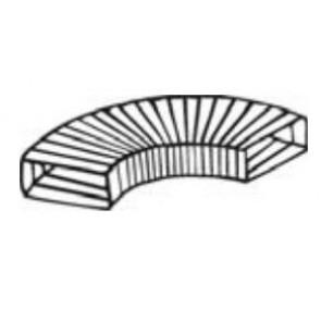 "Manrose 10252, 3 metre - 204 x 60mm, Rectangular PVC Flexible Ducting, 125mm/5"""