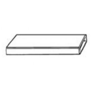 Manrose 1510, 300 x 25mm - L2000mm, Flat Channel Ducting