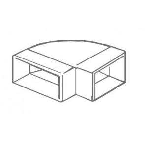 Manrose 1550, 300 x 25mm, Horizontal 90º Bend