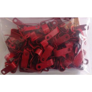 Metal P clips for Fireproof cable for 1.0mm and 1.5mm 2c+e Red (pack of 100)