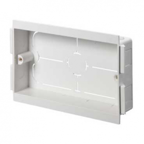 Mita CLB32W White UPVC 2 Gang Mounting Box - 25mm