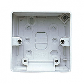 MK Logic K2031WHI Box, 1 Gang Surface