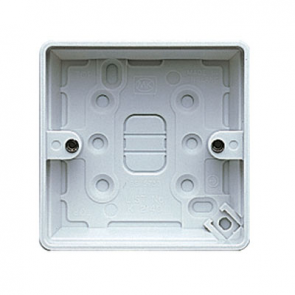 MK Logic K2140WHI Box, 1 Gang Surface