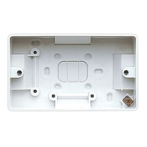 MK Logic K2172WHI Box, 2 Gang Surface