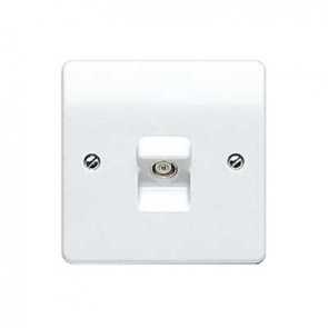 MK Logic K3520WHI Socket, TV/FM Single Non Isolated