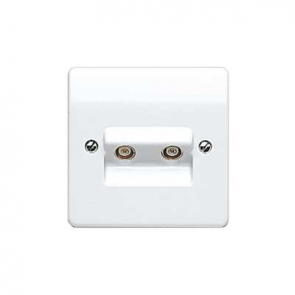 MK Logic K3523WHI Socket, TV/FM Twin Non Isolated