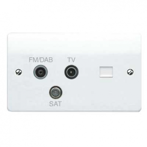 MK Logic K3561DABWHI Socket, 2G TV/FM DAB/SAT Triplexer, BT Secondary
