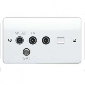 MK Logic K3563DABWHI Socket, 2G TV/FM/DAB/SAT Triplexer TV, BT Secondary