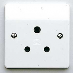 MK Logic K772WHI Socket, 15A 1 Gang Unswitched 3 Pin Round