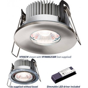 ML Accessories Knightsbridge VFR8CW Proknight LED Fire Rated Downlight 4000K Cool White IP65 8W c/w Dimmable Driver