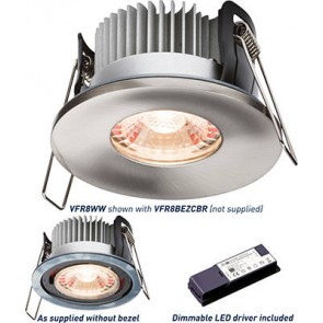 ML Accessories Knightsbridge VFR8WW Proknight LED Fire Rated Downlight 2700K - Warm White IP65 8W c/w Dimmable Driver