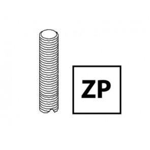 Unistrut Channel M8X3MZP, Threaded Rod, Size:M8x3m