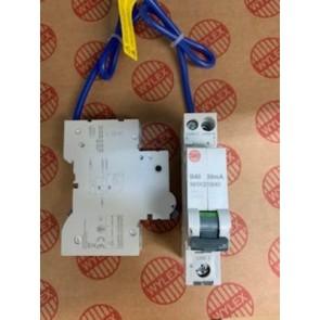 Wylex NHXS1B40 RCBO, SP&N Single Module B Curve, Size: 40A 30mA