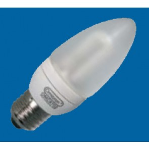 Omicron OMC9702 3W E27 Compact Fluorescent Lamp Energy Saving T3 Candle 2700K (OMC9702)