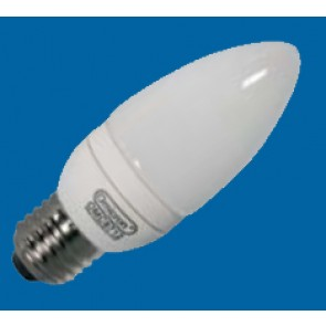 Omicron OMC9716 7W E27 Compact Fluorescent Lamp Energy Saving T3 Candle 2700K