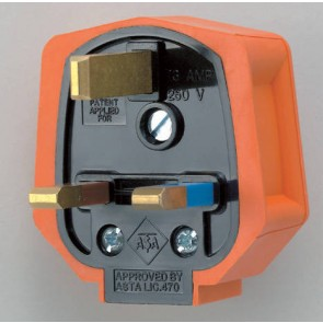 MK PF133ORG Duraplug Orange  Rubber UK Mains Plug with 13A Fuse