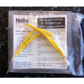 Tenby 1200 Neon Plate Switch Locator for Double and Triple Gang Switches