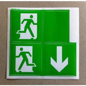 Channel Safety Systems Adhesive Pictogram Pack for Meteor LED™ Emergency Bulkhead - E/PIC/ME/PACK