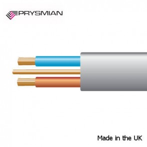 Prysmian 2.5mm² 6242YH Grey Made in UK BASEC approved