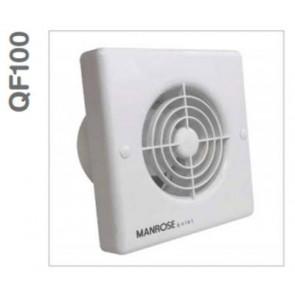 Manrose QF100TX5 Fan, Axial c/w Timer IPX5, Size:240V 100mm 4in
