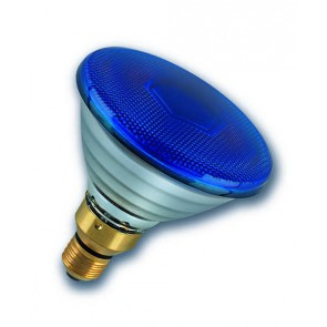 Radium Ralogen RJH PAR38 75W/240/B/E27 ES Halogen PAR38 Reflector Lamp 75W Flood Blue