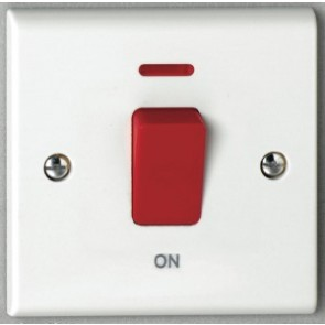 Deta S1300P 45A DP Red Switch with Neon