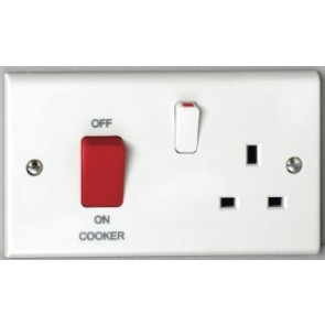Deta S1302 45A Cooker Control Unit Red Switch