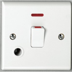 Deta S1393 20A DP Switch with Neon and Flex Outlet