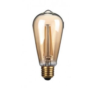 4W LED Filament, ST64, E27, Gold finish, 20000hrs, 2700K