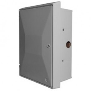 Recessed UK Standard Electrical Meter Box - suitable for a single phase domestic electric meter