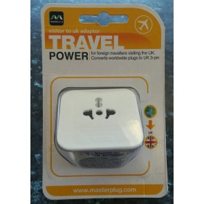 BG Electrical TAVUK Visitor to UK travel adaptor
