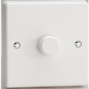 VARILIGHT KQP221W 1­Gang 2­Way Push­ On/Off Rotary LED Dimmer 1 x 15­220W (max 26 LEDs)