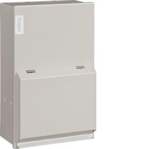 Hager VML402H Metal LA Consumer Unit 2 Way 40A 30mA RCCB Incomer