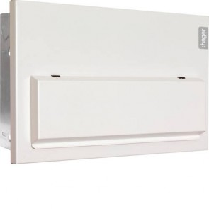 Hager VMLF710C D10 Flush Consumer Unit 10 Way Configurable 100A Sw 2*63A 30mA RCCB