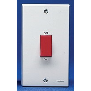 Volex Accessories VX9703 45A DP Control Switch (Large Plate)