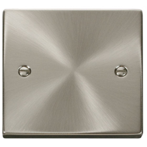 Scolmore VPSC060 Victorian 1 Gang Blanking Plate in Satin Chrome - Buy online from Sparkshop