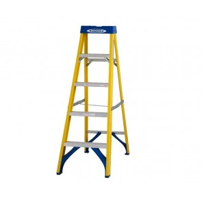 Werner 7160518 5 Tread Swingback Fibreglass Stepladder
