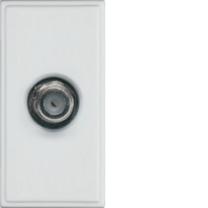 Hager Sollysta WMMSAT White Moulded Single Satellite F Connector Euromodule