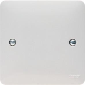 Hager Sollysta WMP1 White Moulded Single Blank Plate