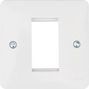 Hager Sollysta WMP1EU White Moulded Euro Style Accomodation Plate 1 Module
