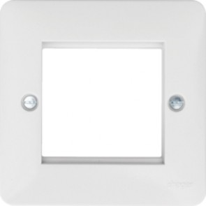 Hager Sollysta WMP2EU White Moulded Euro Style Accomodation Plate 2 Module