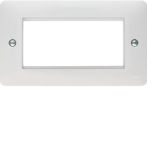 Hager Sollysta WMP4EU White Moulded Euro Style Accomodation Plate 4 Module
