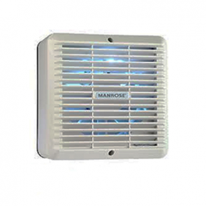 "Manrose XF150H 6"" Wall/Ceiling Extractor Fan c/w Fixed Grille, Adjustable Timer + Humidistat - Buy online from Sparkshop"