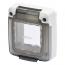 Gewiss GW27403 Flush Mounting Flanged 2G IP65 Combi-In 2 Mod Smoked Door Enclosure